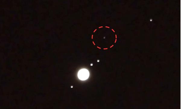 Астроном-любитель заметил около Юпитера НЛО