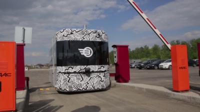 В Волгограде представили первый в мире беспилотный автобус