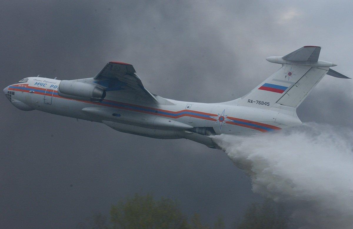 Обои Самолёт, Ил-76, ильюшин, тд, мчс, транспортный, сброс, candid. Авиация foto 6