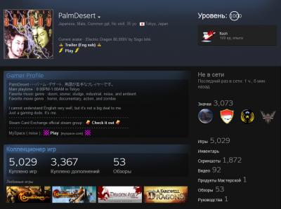 Житель Японии достиг 1000 уровня в Steam