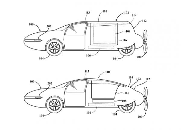 Toyota зарегистрировала патент на летающий автомобиль с изменяемой формой фюзеляжа