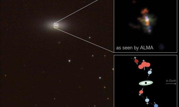 Астрономы обнаружили растущую сверхмассивную черную дыру