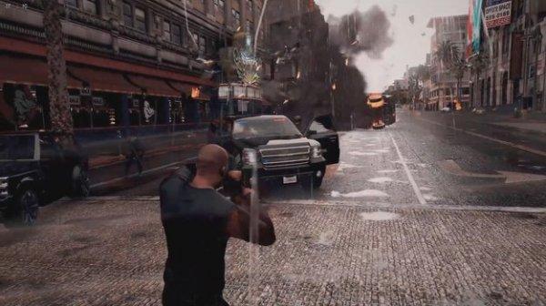 В интенете появилось видео нового ультрареалистичного мода GTA V
