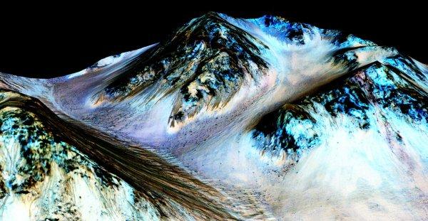 Ученые: Лед на Марсе появляется в ночное время