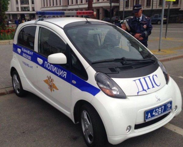 В Казани впервые на патрулирование улиц выехал электромобиль
