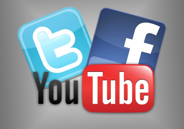 � ������ ������� ������ � YouTube, Facebook � Twitter
