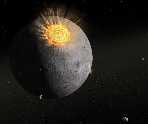 Ученые: На поверхности Луны найдены следы от падения протопланеты