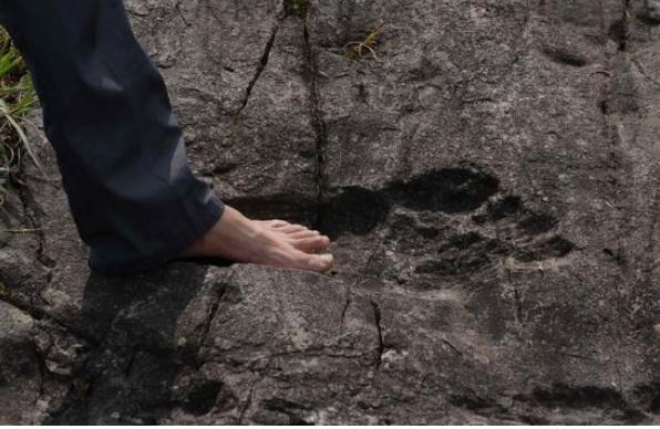 В Китае обнаружили гигантские окаменелые следы человека