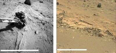 Минеральные жилы на Марсе формировались в результате испарения древних озер