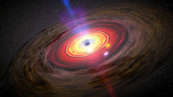 Казанские ученые первыми в мире зафиксировали изменение блеска черной дыры