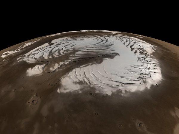 Ученые: На Марсе обнаружены ледники