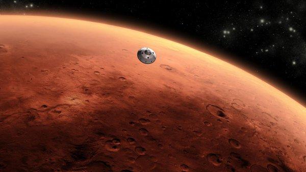 NASA опубликовало снимки места посадки НЛО на Марсе