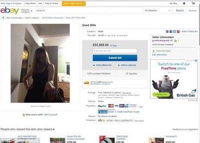 Британец выставил свою жену на продажу на eBay