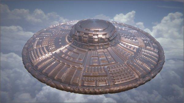 В Париже засняли на камеру большой дискообразный НЛО