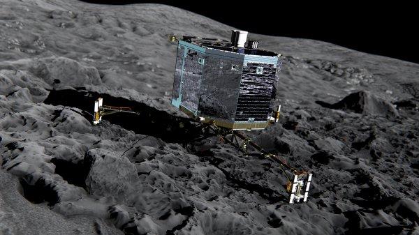 Космический аппарат Rosetta приземлился на комету Чурюмова-Герасименко