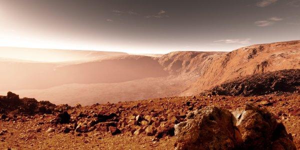 Ученые: Осенью на Марсе ожидается пылевой шторм