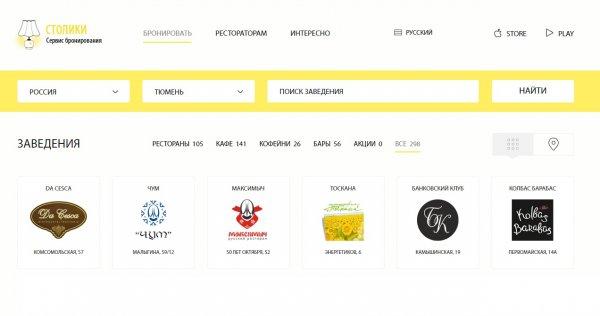 Сервис Stoliki.ru выкуплен холдингом Paramon из Челябинска