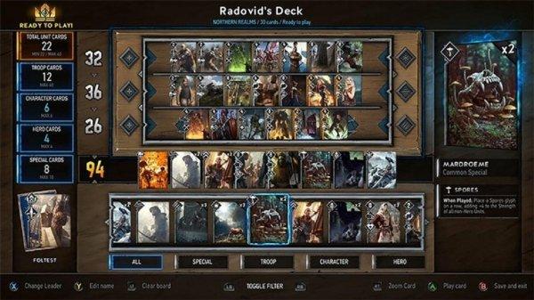 Стартовало закрытое бета-тестирование карточной игры Gwent: The Witcher Card Game