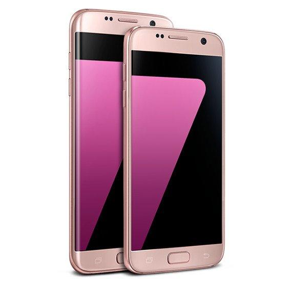 Samsung представил смартфон Galaxy S7 в розовом цвете