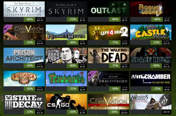 В интернете появились даты осенней и зимней распродажи в сети Steam
