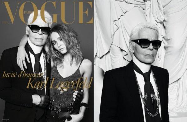 Дочь Джонни Деппа снялась вместе с Карлом Лагерфельдом для Vogue