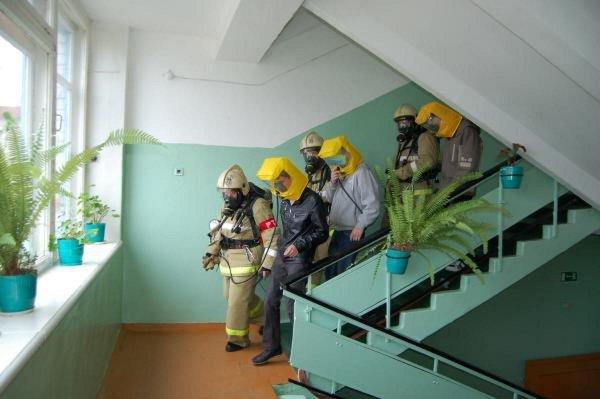 Эвакуация в школе тренировка