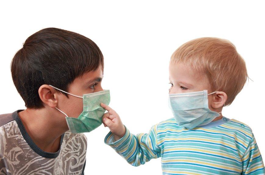 Маска рисунки при гриппе