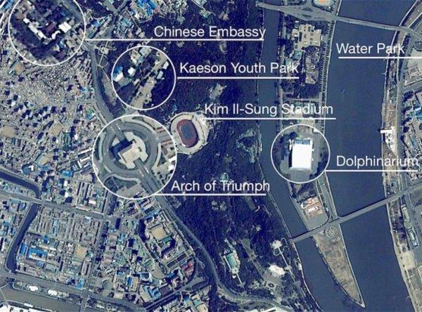 Редкие снимки Пхеньяна из космоса появились в Сети