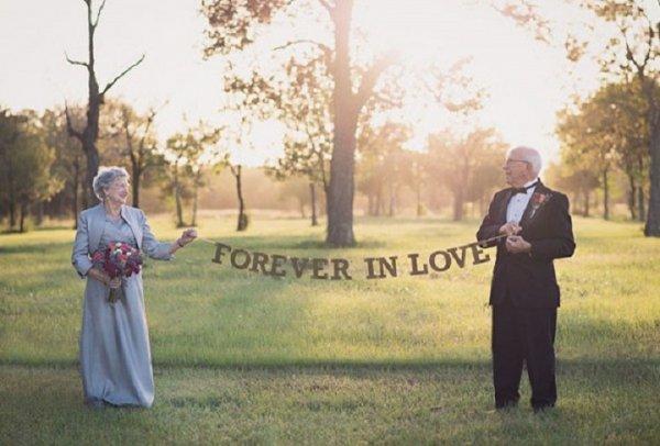 Спустя 70 лет после брака семейной паре устроили фотоссесию