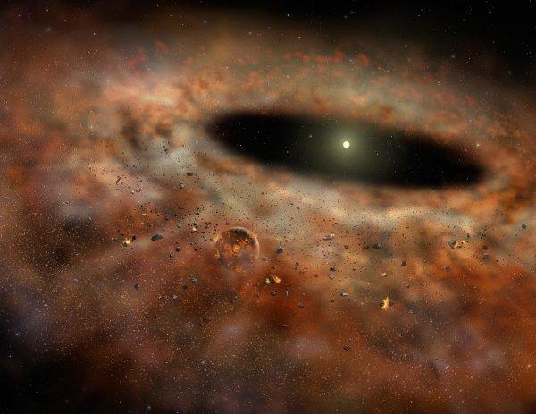 Ученые определили размер частиц из которых образуются планеты