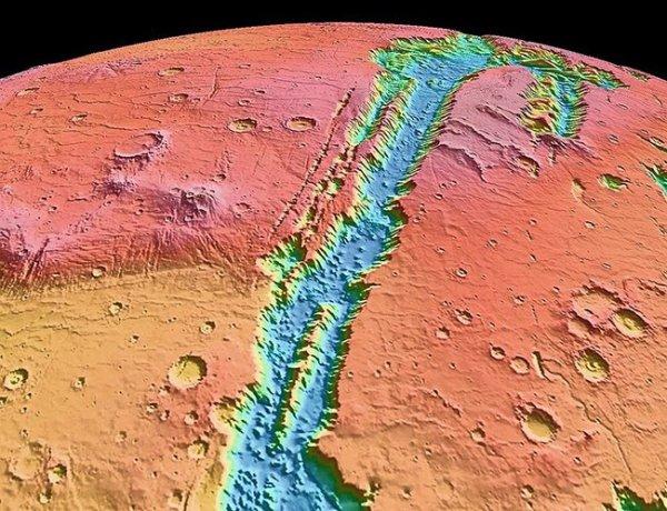 Ученые: Большие каньоны на Марсе образовались при изменении климата