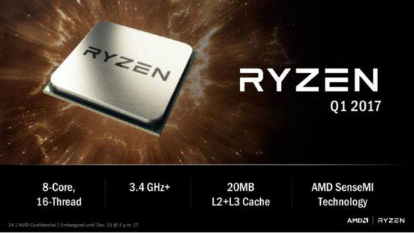 Результаты первых тестов AMD Rizen попали в глобальную сеть