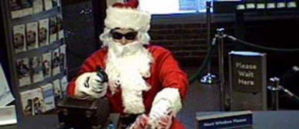 В США мужчина притворился Санта-Клаусом и ограбил банк
