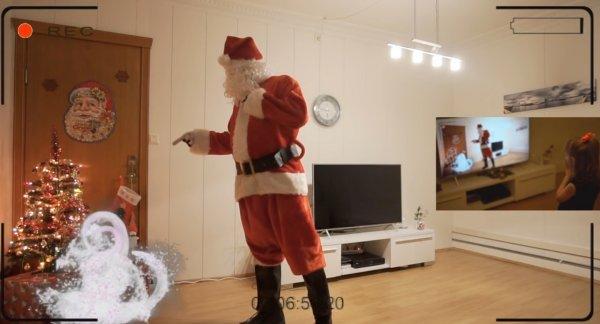 Отец доказал дочери существование Санта-Клауса с помощью спецэффектов