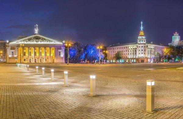 Главная площадь Воронежа превратилась в кинотеатр