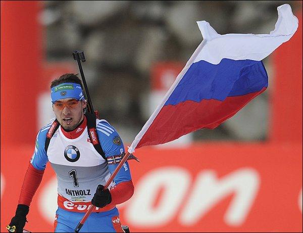 Антон Шипулин стал серебрянным призером Кубка мира по биатлону