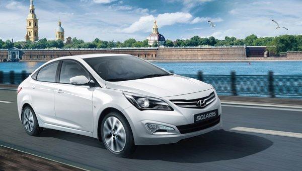 Продажи Hyundai Solaris лидировали в двух главных городах России в 2016 году