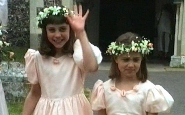 В Сети появилось видео с 9-летней Кейт Миддлтон в роли подружки невесты