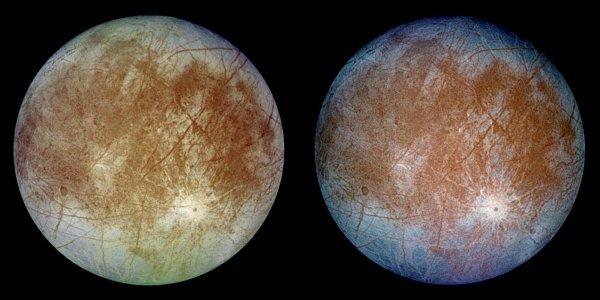 Учены NASA выяснили, как найти признаки жизни в водах Европы и Энцелада
