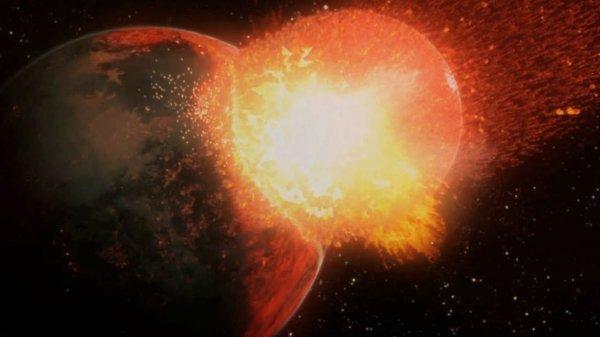 Названа дата столкновения Луны с Землей