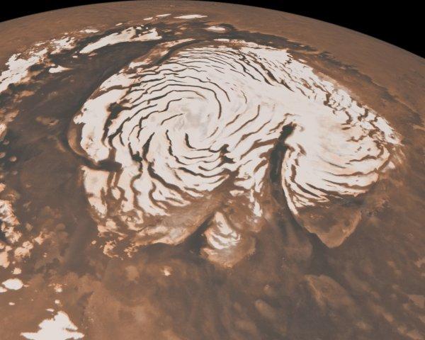 Ученые: На Марсе найдены ледниковые спиралевидные метки