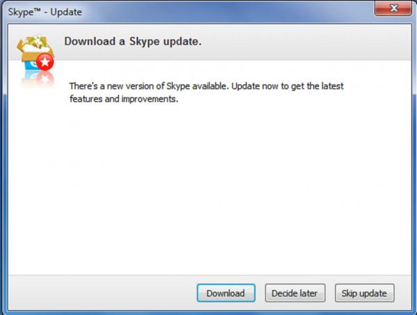 С 1-го марта 2017 станет невозможным пользоваться необновленными версиями Skype