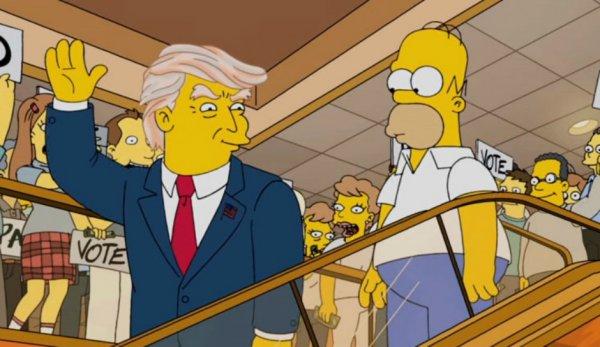 В Сети появились кадры из «Симпсонов» с «мертвым Трампом»
