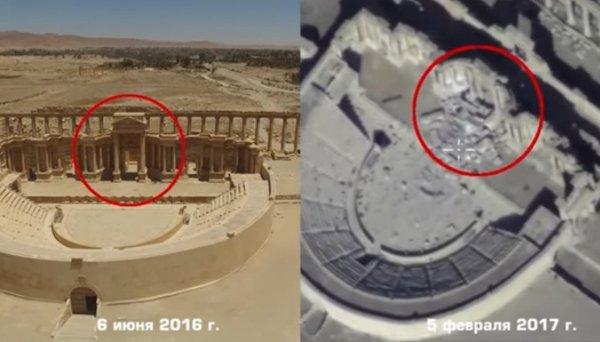 Минобороны России: Боевики ИГИЛ снова свозят взрывчатку в Пальмиру