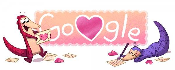 Google подготовила «дудл» ко Дню святого Валентина