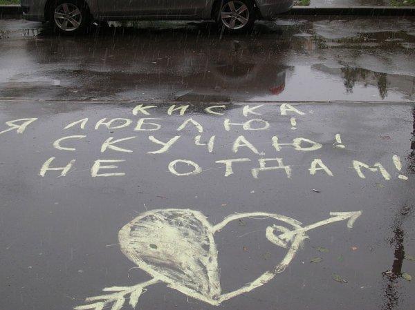 Опубликованы топ-30 признаний в любви на асфальте