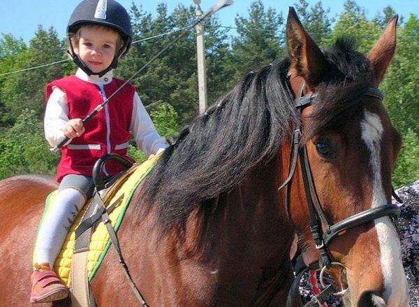 Езда верхом на лошадях помогает детям учиться