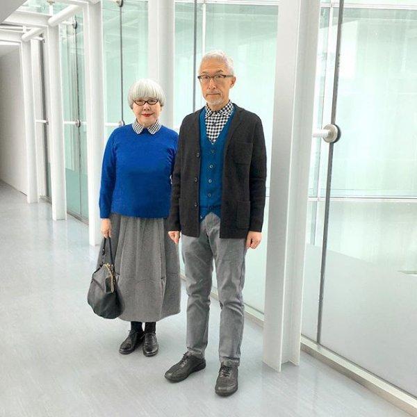 Супруги из Японии прославились благодаря одинаковым нарядам