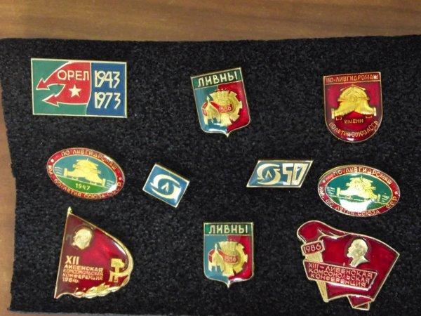 Коллекционер из Ливен рассказал об истории города при помощи значков