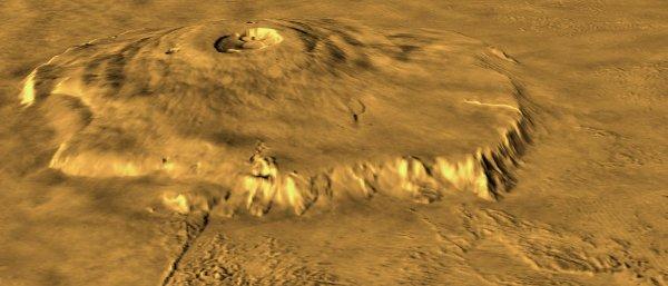 Специалисты из NASA связали извержение вулкана на Марсе с динозаврами